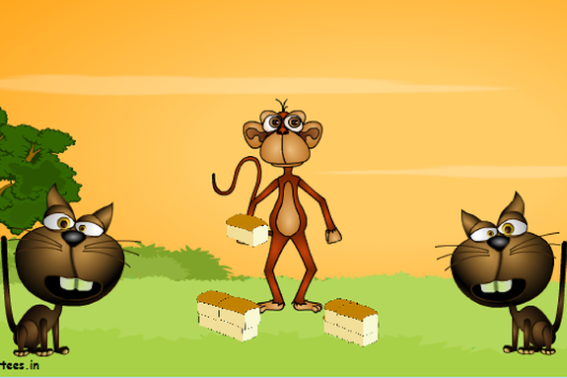 Dongeng Binatang Dua Ekor Kucing dan Seekor Monyet