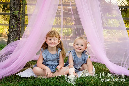 professional portrait of beautiful little girls in Albuquerque