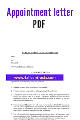 appointment letter pdf format