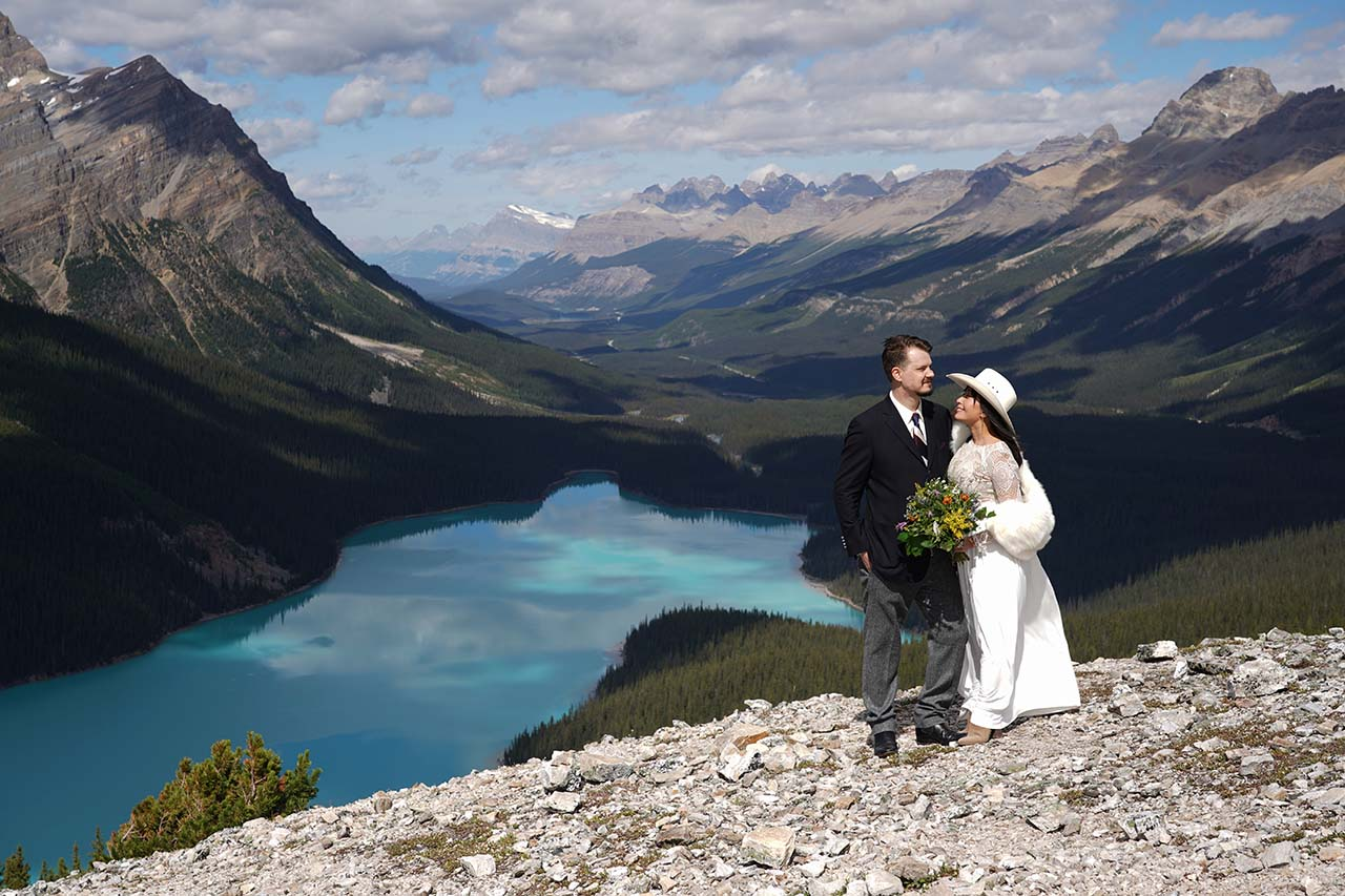 Peyto Lake Wedding