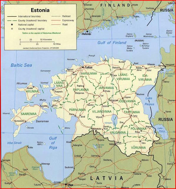 Gambar Peta politik Estonia