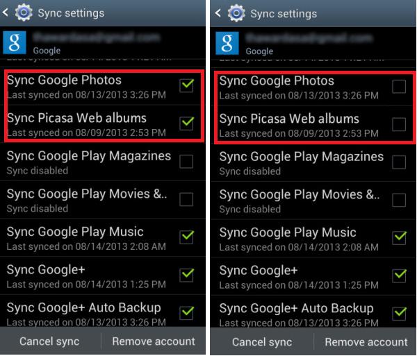 Cách xóa Album ảnh Picasa trên các thiết bị Android