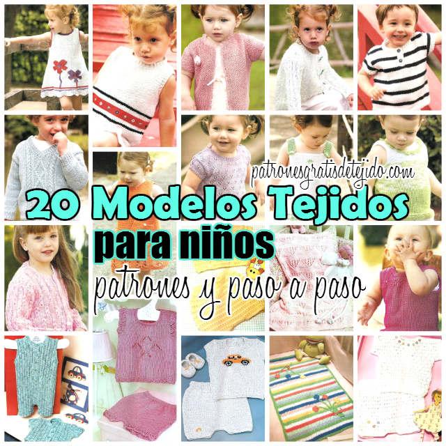 20 patrones de ropa de bebe y niños