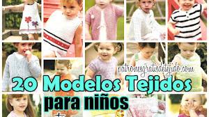 Ropa para Niños para Tejer ~ 20 Modelos / Moldes y Paso a paso