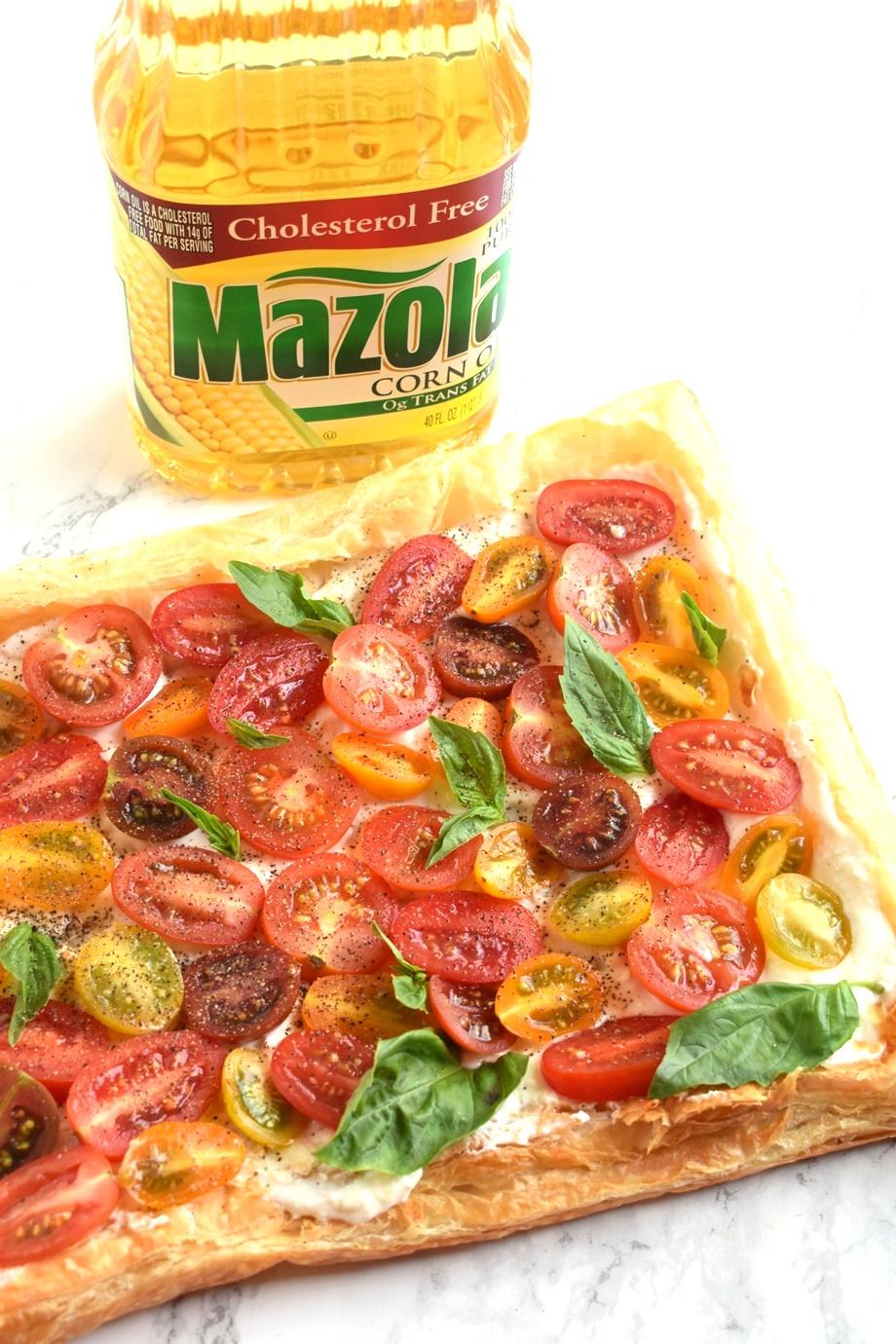 Tomato Basil Feta Tart