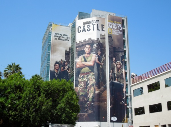 Giant Doomsday Castle National Geographic billboard