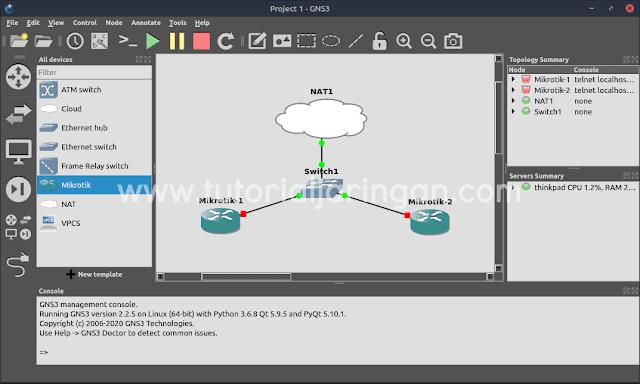 teman kalangan network engineer atau orang yang mempunyai passion di bidang jaringan komput Cara Mengatasi Error while creating node from template: NAT interface virbr0 is missing, please install libvirt di GNS3