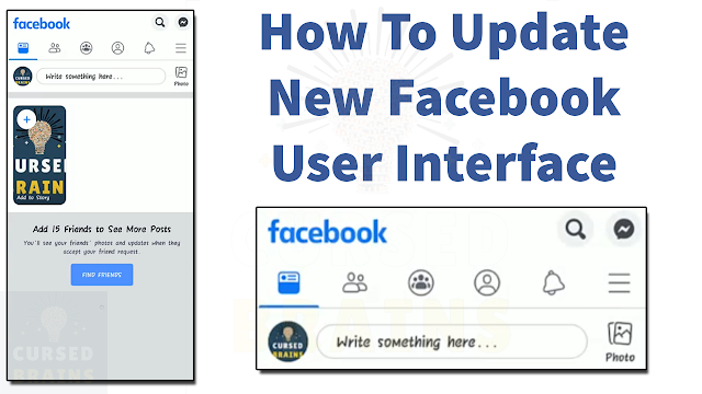 How To Update New Facebook User Interface   Get Facebook New Design   Android FB Update 2019