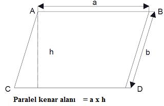 paralel kenar alanı
