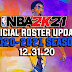 NBA 2K21 OFFICIAL ROSTER UPDATE 12.31.20