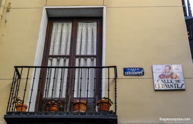 Rua onde morou Miguel de Cervantes no Bairro das Letras, Madri