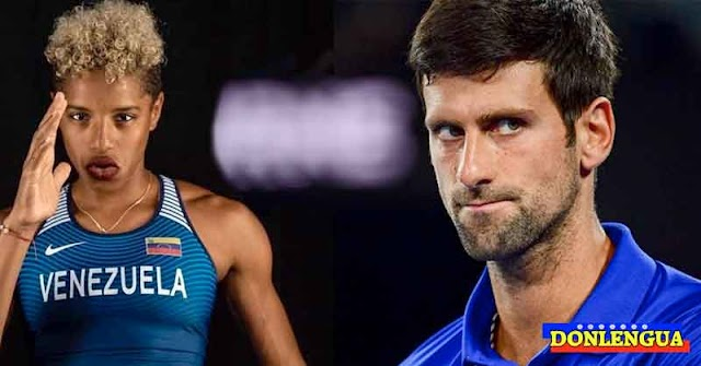 Yulimar Rojas casi se desmalla al conocer al tenista Novak Djokovic