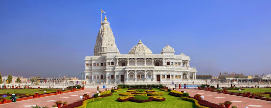 Prem Mandir Building complex in Vrindavan, Uttar Pradesh ~ Tourist Places in India