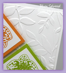 Layered Leaves Dynamic Textured Impressions Embossing Folder, Simply Sketched Saturday Challenge July 2017