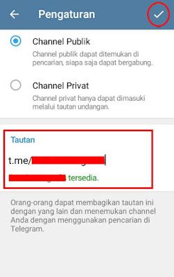 Cara buat channel telegram publik
