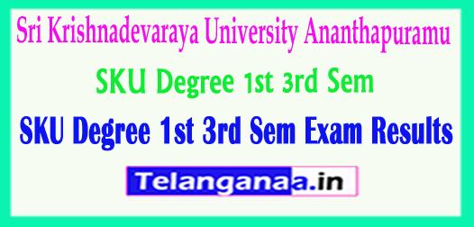 SKU Degree 1st 3rd Sem Sri Krishnadevaraya University 1st 3rd Sem Exam 2018 Results