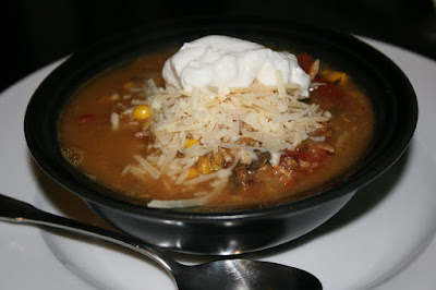 chicken tortilla soup made in the crockpot slow cooker