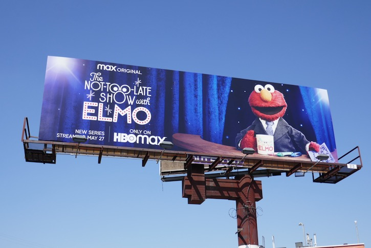 Not-Too-Late Show Elmo HBO Max series billboard