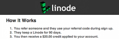 2. Linode Referral Program - Get $20 Per Signup