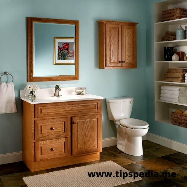 honey oak bathroom cabinets