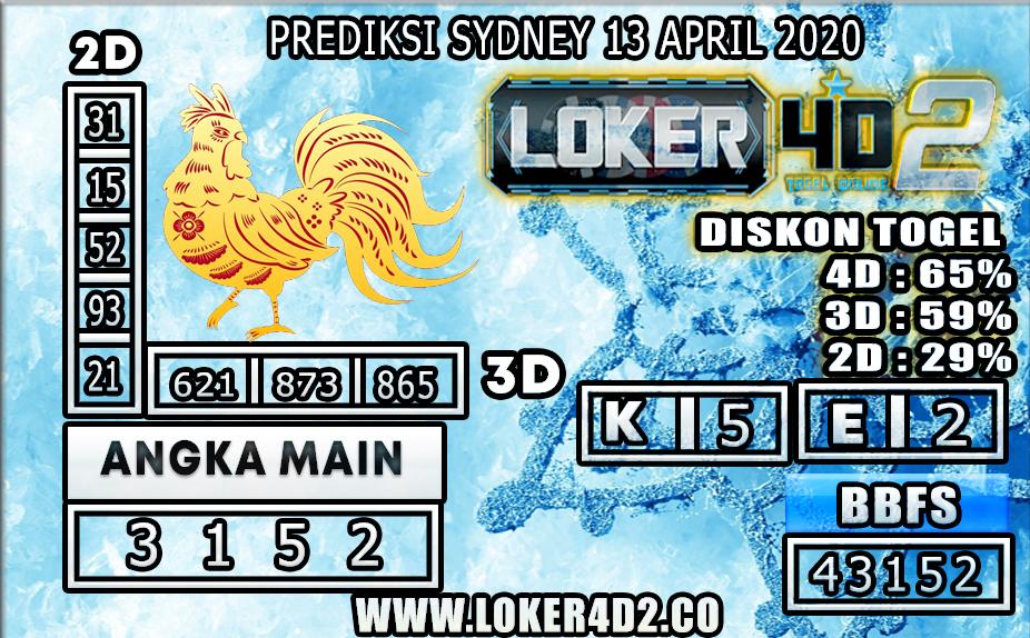 PREDIKSI TOGEL SYDNEY LOKER4D2 13 APRIL 2020