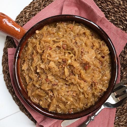 schlotziges Speck- Sauerkraut