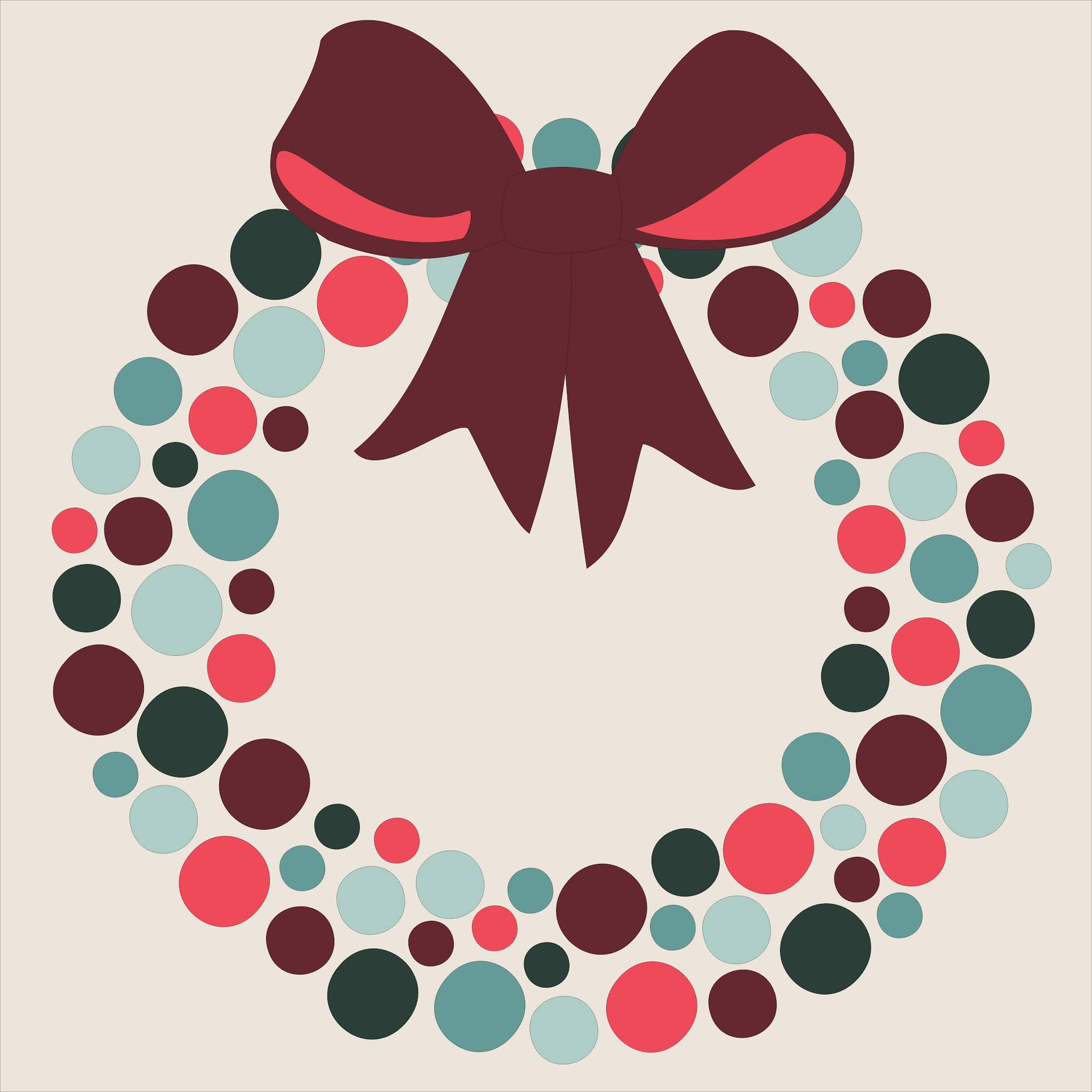 Slice Of Pi Quilts Christmas Wreath Free Quilt Block