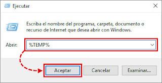 para eliminar los archivos guardados en la carpeta %temp% solo debes ingresar a ella desde la aplicación ejecutar ay escribes %temp% se abrirá la carpeta de los temporales los seleccionas todos y los borras y listo
