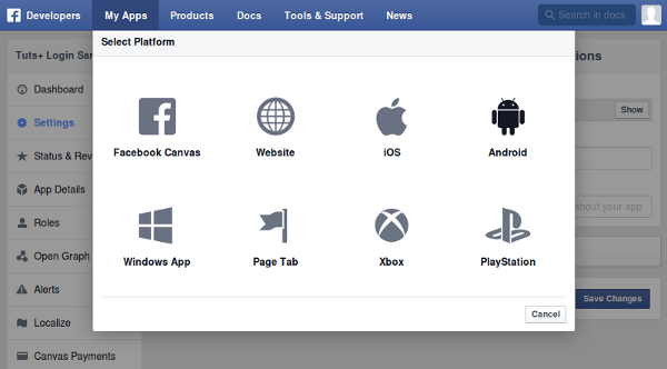 Flutter facebook platform package setup
