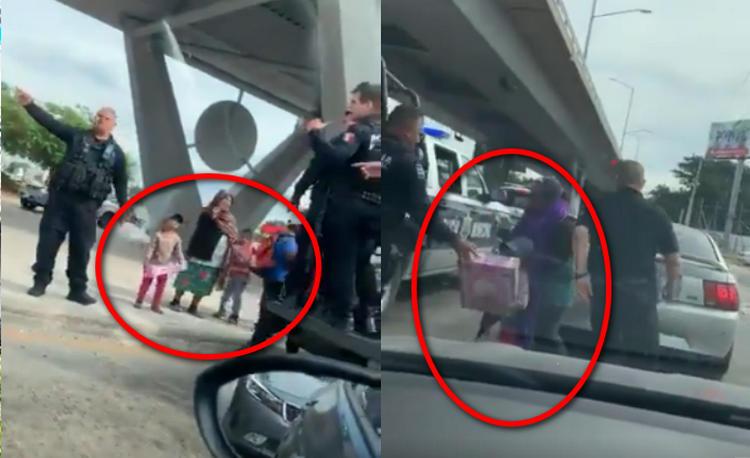 """""""No todos los héroes usan capa"""", Captan a policías que se convirtieron en """"Santa Claus"""", salieron a regalar sonrisas a los niños"""