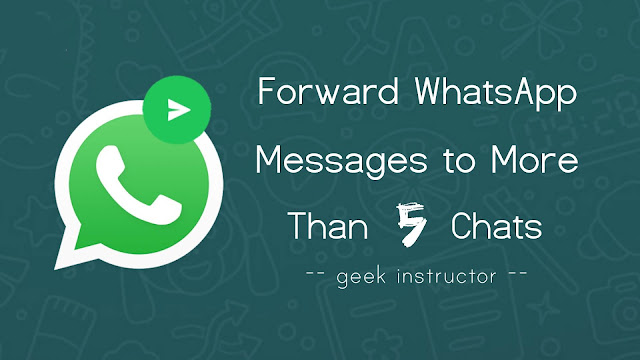 Send WhatsApp message to more than 5 chats at once