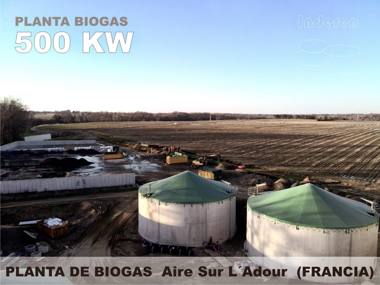 inderen renovables 500 kw en aire sur l adour francia planta de biogas. Black Bedroom Furniture Sets. Home Design Ideas