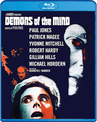 Cover art for Scream Factory's DEMONS OF THE MIND!