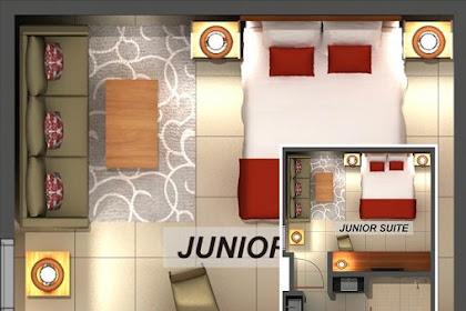 Design Denah Berwarna Junior Suite Room Mewah