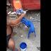 20 mil pesos y para su casa, a hombre pintó de azul a su perro