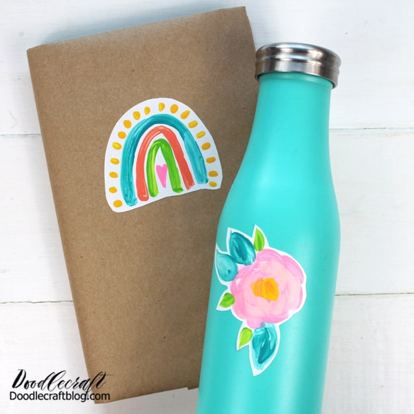 Make all your school supplies match with coordinating stickers of your own design.