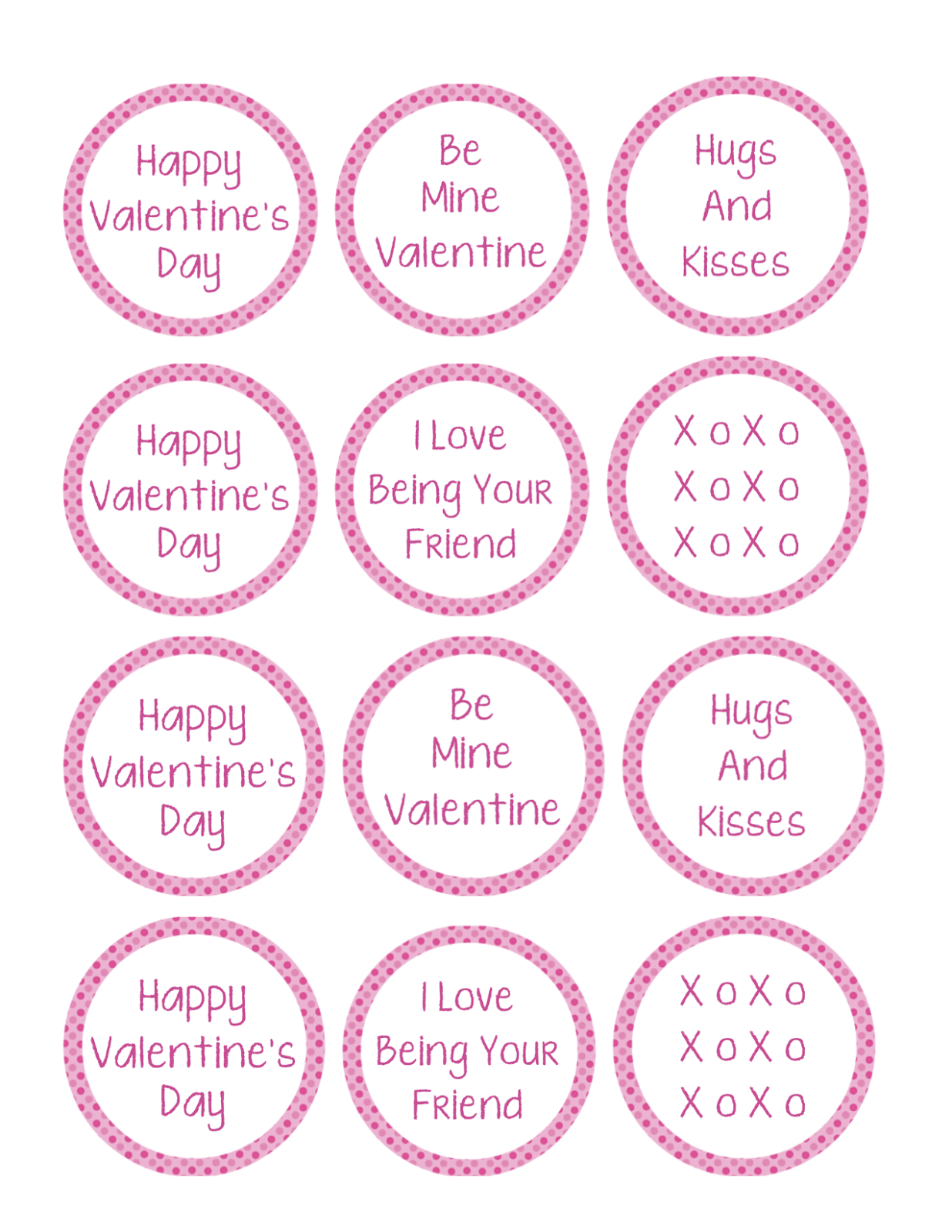 graphic about Printable Cupcake Toppers named Valentine Cupcake Topper Printable for Boys Females - Take pleasure in