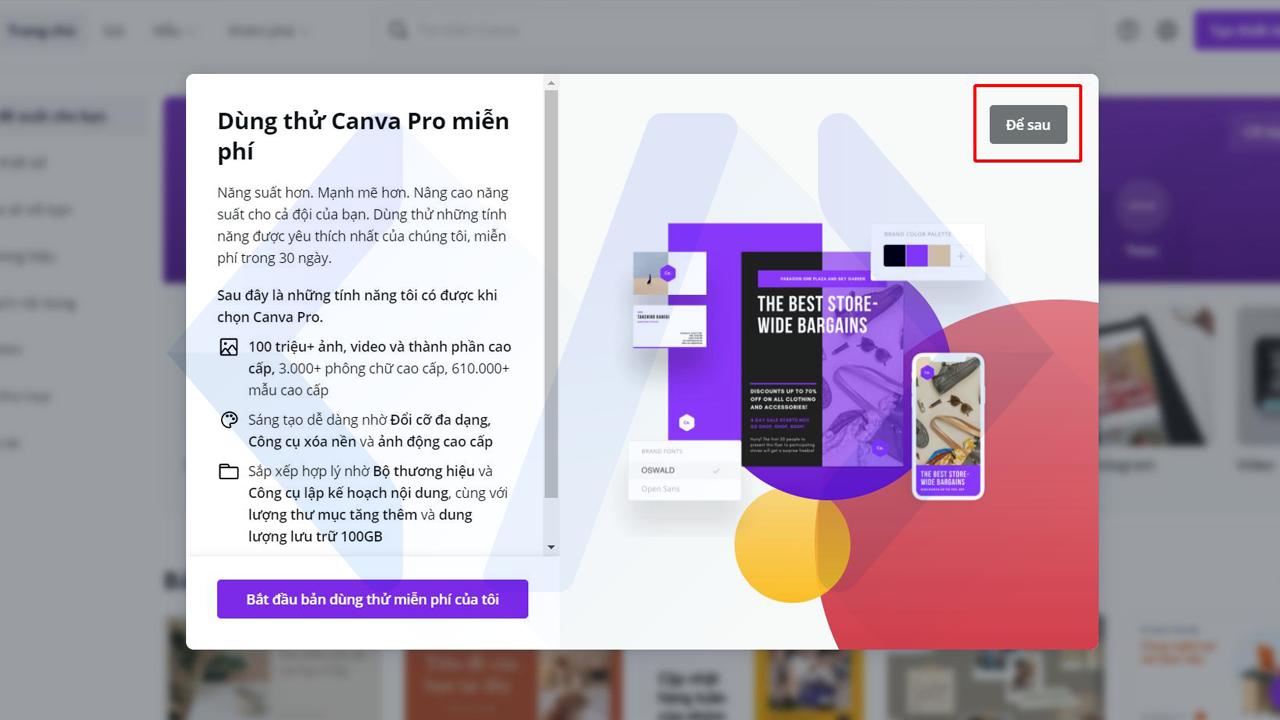 Hướng dẫn sử dụng Canva Pro miễn phí trọn đời (bước 3)