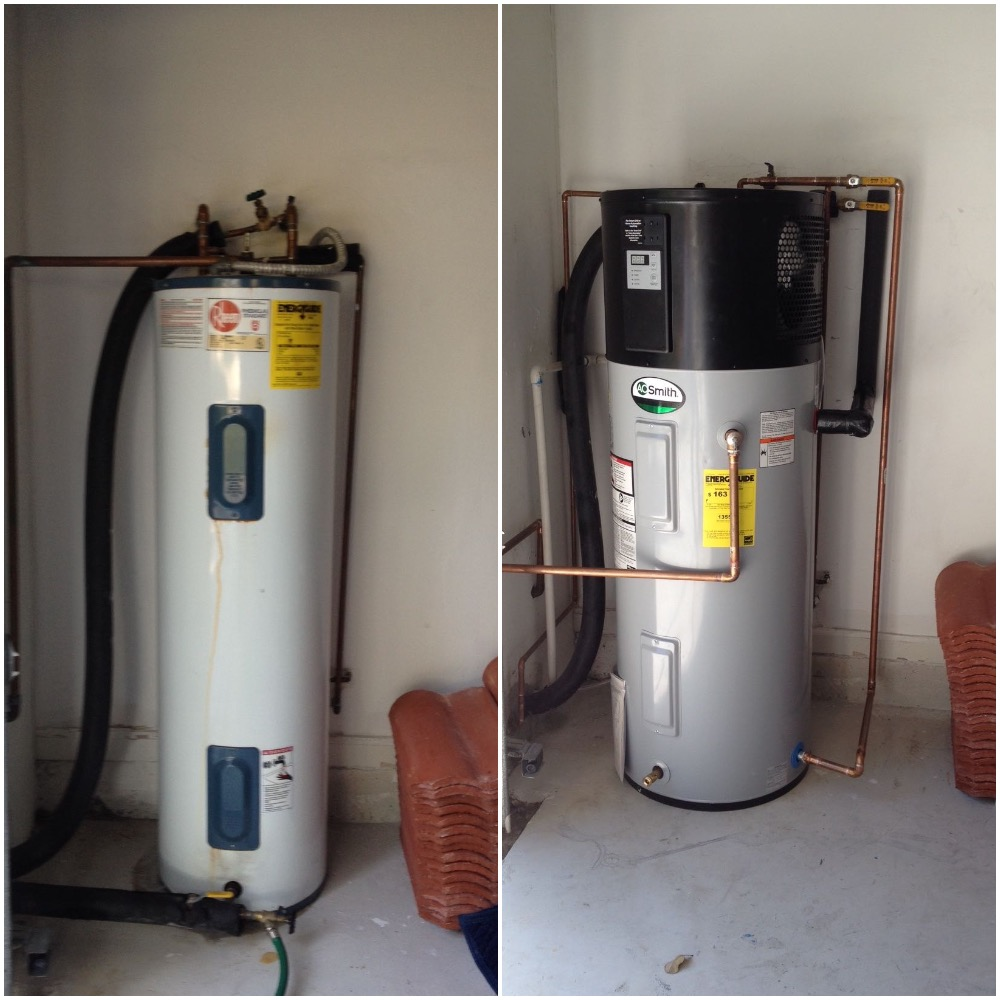 A O Smith Hybrid Heat Pump Water Heater Installed In