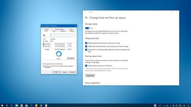 Storage Sense Windows 10