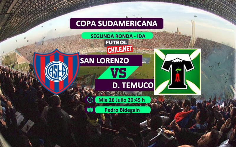 Mira San Lorenzo vs Deportes Temuco en vivo y online por la 2da Ronda ida de la Copa Sudamericana