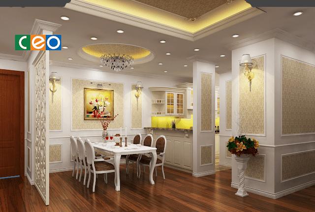 Phòng khách sang trọng dự án chung cư Seven Star
