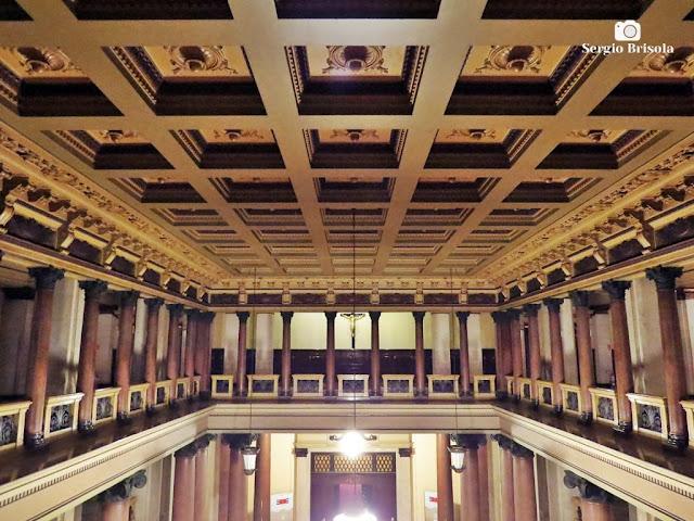 Vista ampla do Teto do Palácio da Justiça de São Paulo - Sé