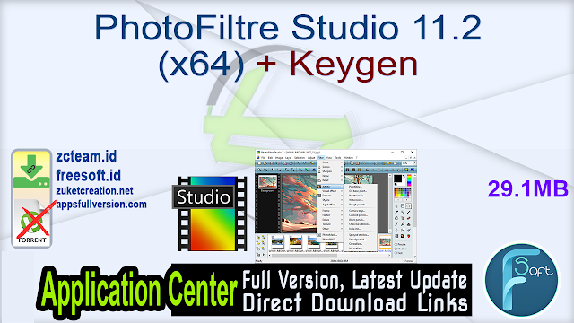 PhotoFiltre Studio 11.2 (x64) + Keygen_ ZcTeam.id