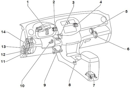 Wiring Diagrams  2006 Toyota RAV4 Instrument Panel Relay Location and Layout