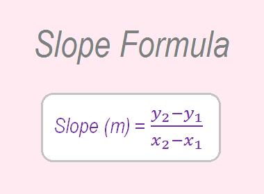 Slope of a line   Slope Formula
