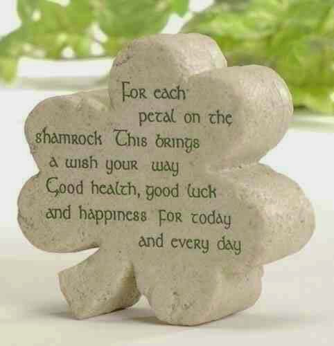 shamrock, st patricks day, four leaf clover, irish quote