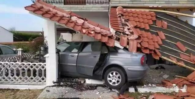 Ξάνθη: Διακινητής λαθρομεταναστών προσπάθησε να διαφύγει και έπεσε σε σπίτι..ΕΙΚΟΝΕΣ