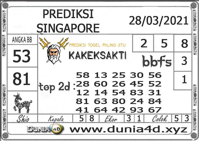 Prediksi Togel SINGAPORE DUNIA4D 28 MARET 2021