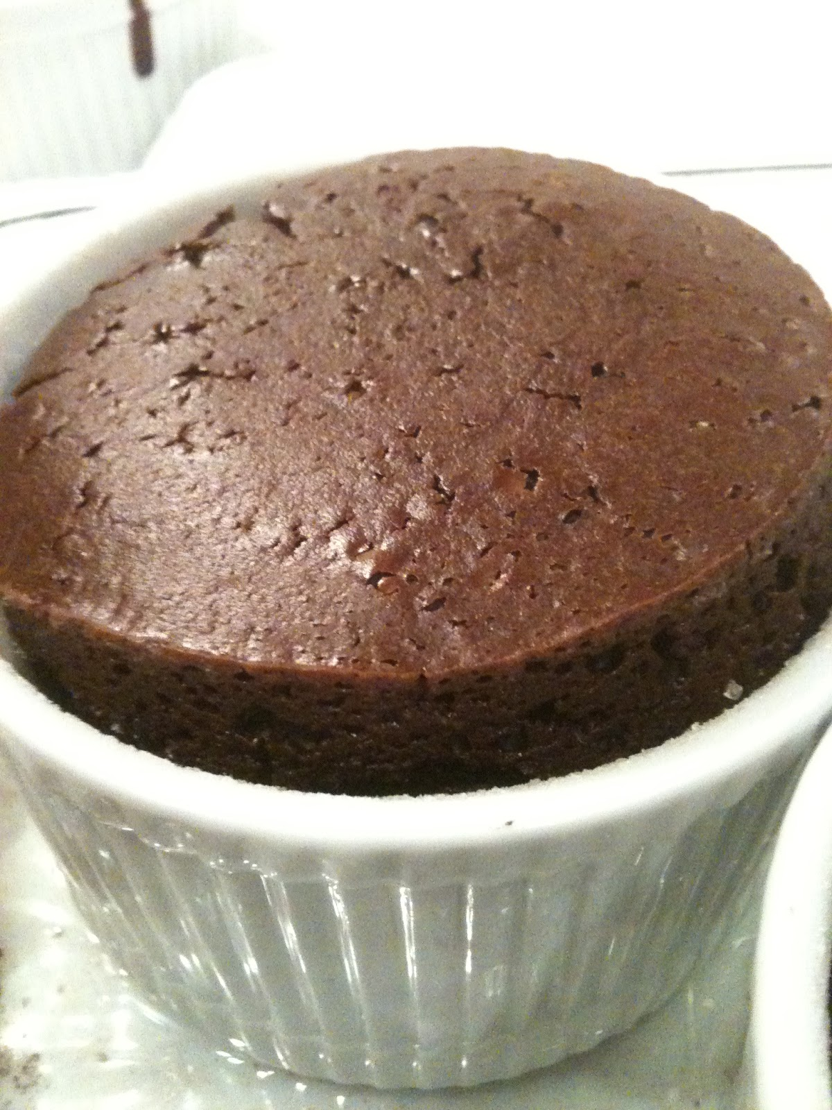 Genius Cafe: Plant based Chocolate Soufflé, low fat, eggless